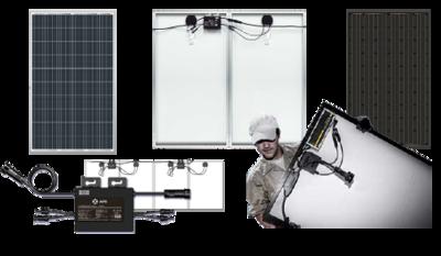 2 x 315Wp Jinko Solar full black inclusief APS YC600 omvormer en...