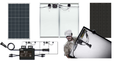 2 x 280Wp AEG Poly inclusief APS Micro Omvormer en aansluitset!
