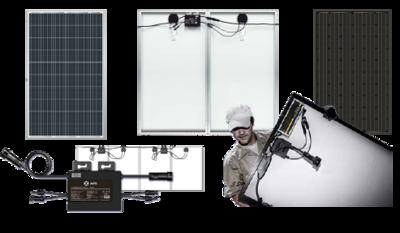 2 x 320Wp Jinko Solar Percium inclusief APS YC600 Omvormer en aansluitset!